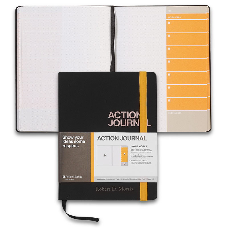 Behance Action Journal, Orange with personalization