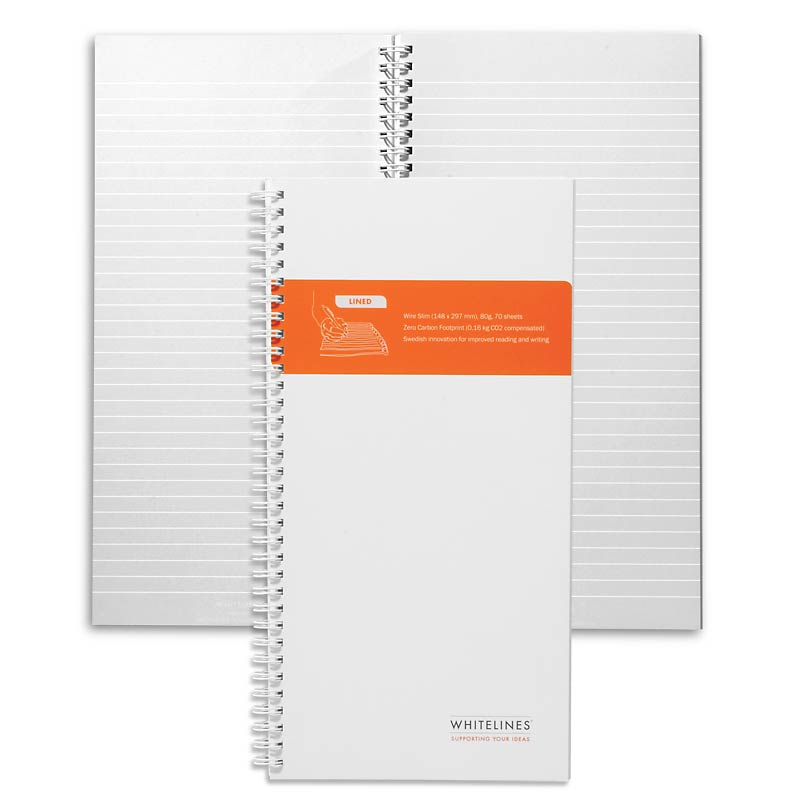 Whitelines Wire Slim Lined Journal