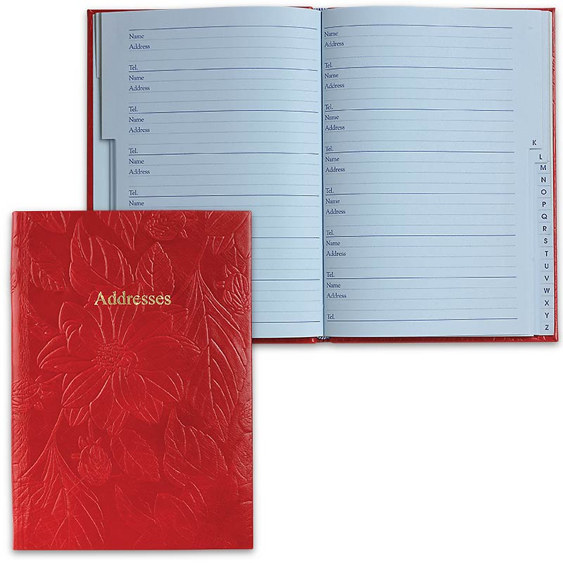 Leathersmith of London Address Book, Red