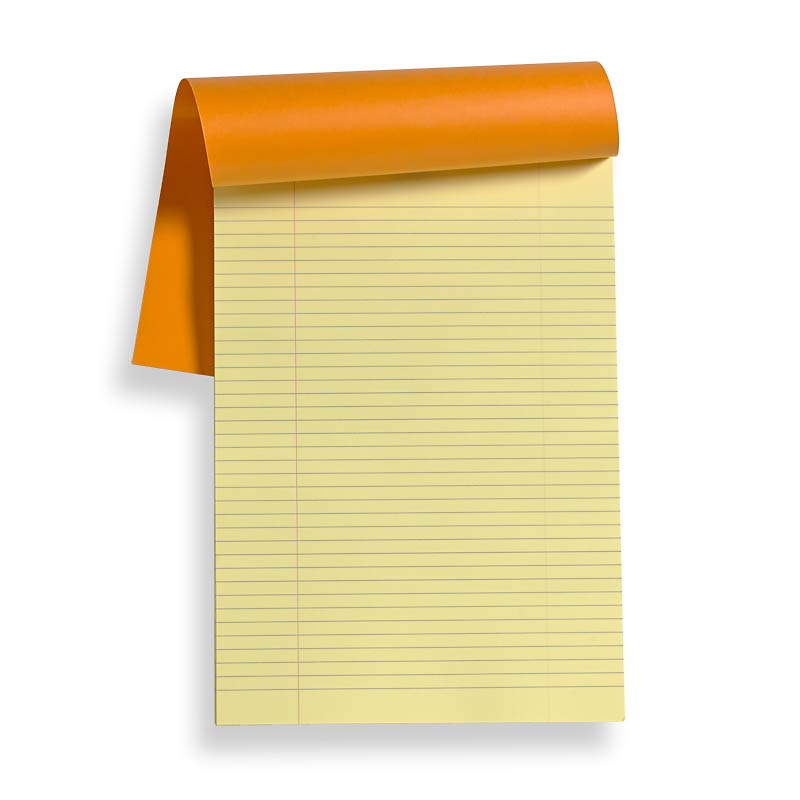 Rhodia Ruled Note Pad, Yellow