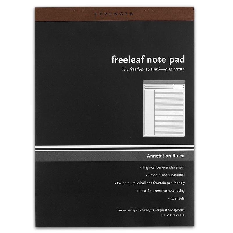 Freeleaf White Annotation Ruled Pads, Letter