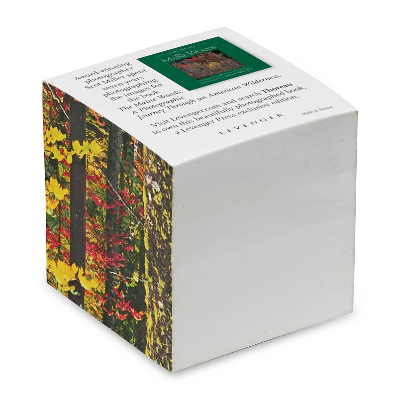 Thoreau Maine Woods Note Cube