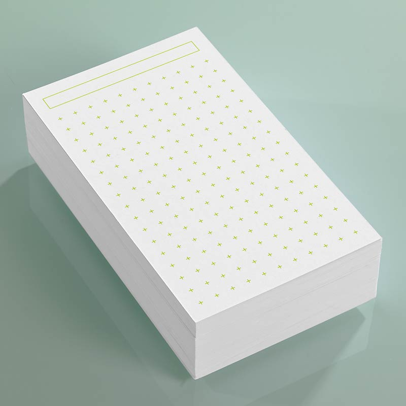 100 Vivacious 3x5 Cards, Cross Dots
