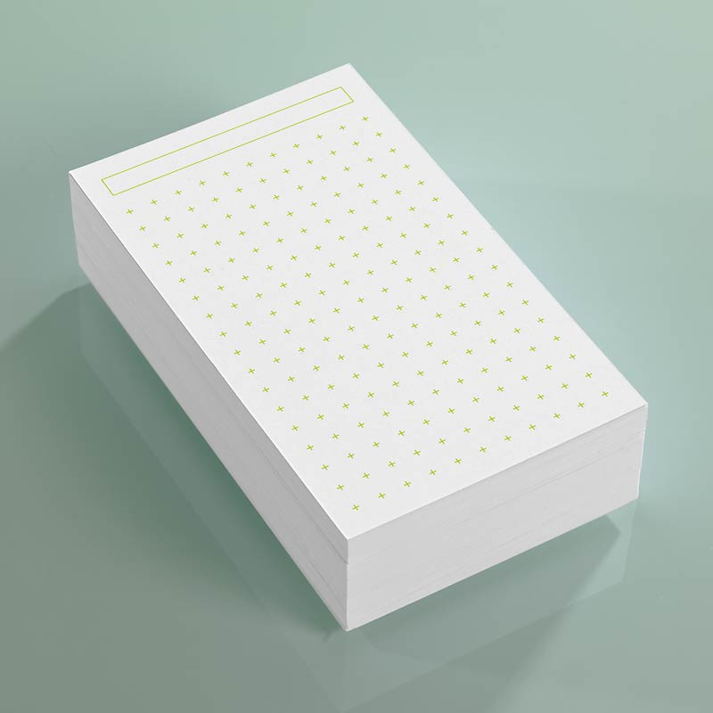 Vivacious 3x5 Cards Set of 3 Cross Dots