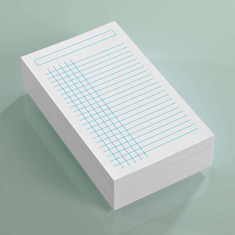 Vivacious 3x5 Cards Set of 3 Grid/Ruled