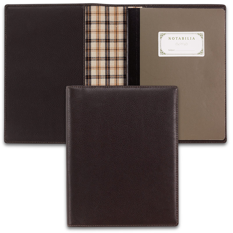 Notabilia Notebook W/Bomber Jacket Leather Cover