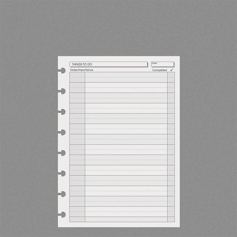 Special Request™ Things to Do (100 sheets), Circa A5