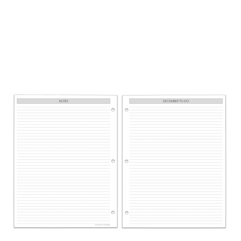 Special Request™ 3-Ring Weekly Planner Refill 2014