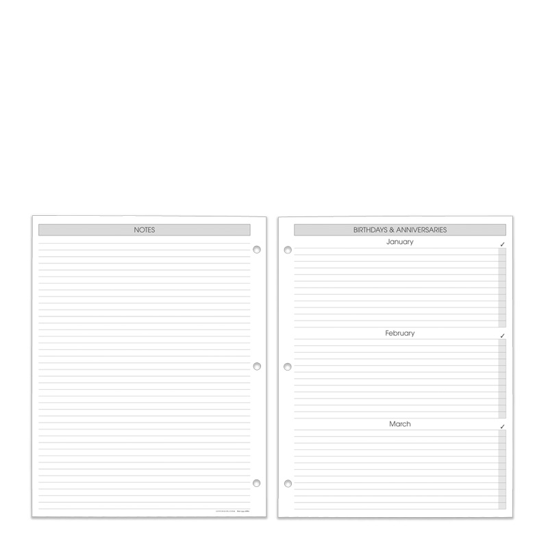3-Ring Daily Planner Refill