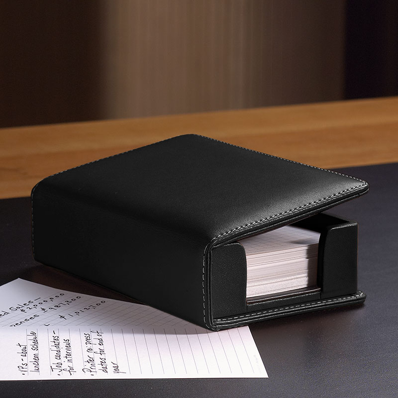 Morgan 3 x 5 Card Holder, Black