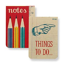 Vintage Pocket Notebooks (set of 2), Office
