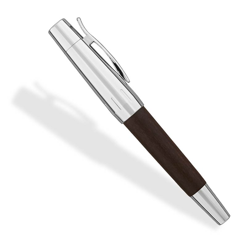 E-motion Wood and Polished Chrome Fountin Pen