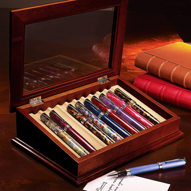 Point of View Pen Case, Dark Cherry