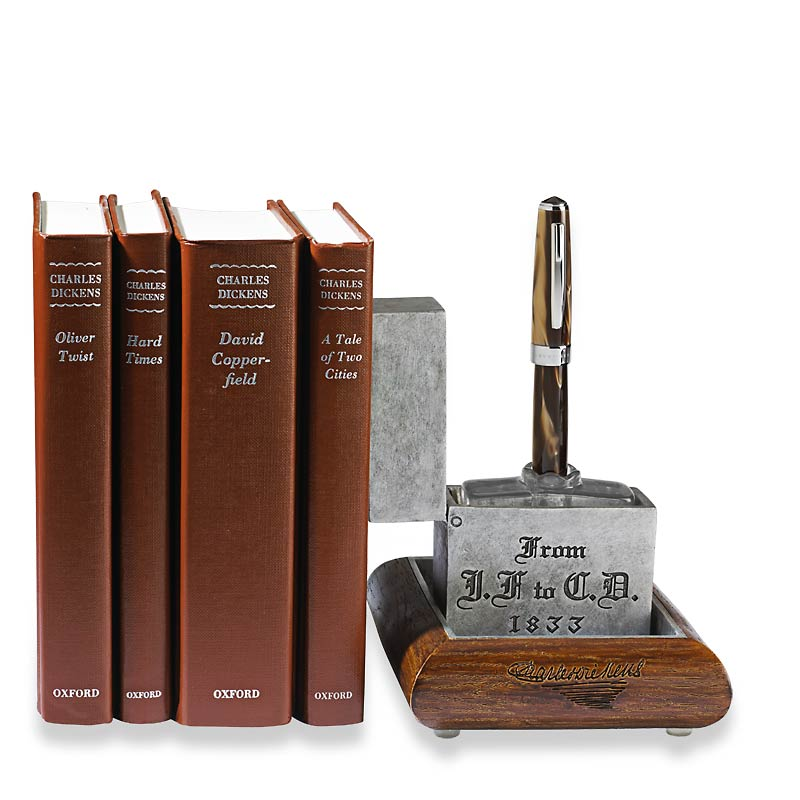 Charles Dickens's Traveling Inkpot Bookend/Penholder