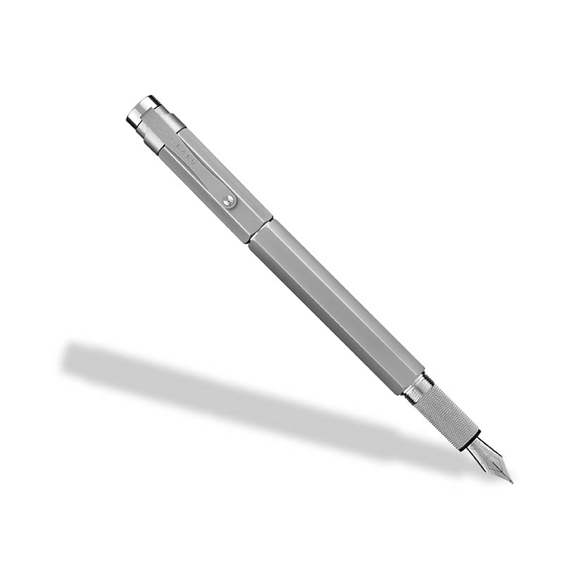 L-Tech 3.0 Fountain Pen, Chrome w/ Flat Top