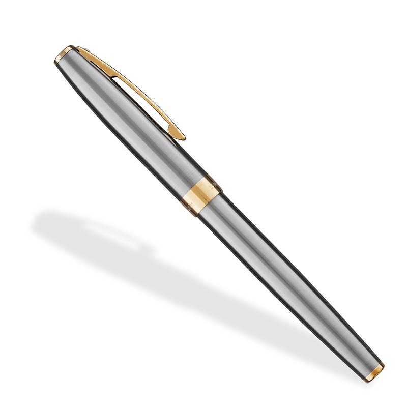 Sagaris Brushed Chrome Fountain Pen