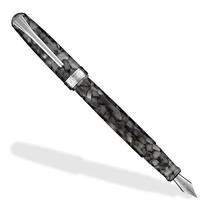 True Writer Silver Seas Fountain Pen-Broad W/Mono