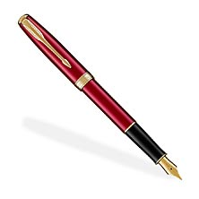 Parker Sonnet Lacquer GT Fountain Pen (F, M), Red