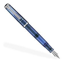 Pelikan 205 Blue Demonstrator Fountain Pen (EF, F, M)