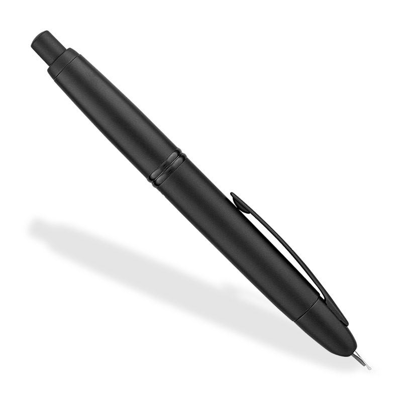 Namiki/Pilot Vanishing Point Black-on-Black Fountain Pen (M)