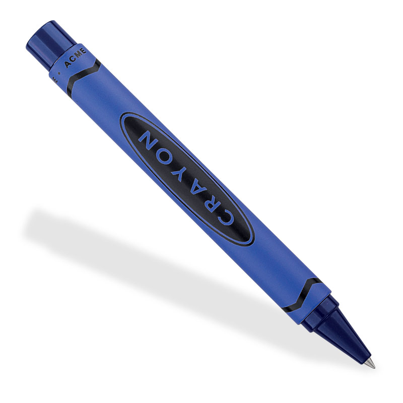 ACME Crayon Retractable Rollerball, Blue