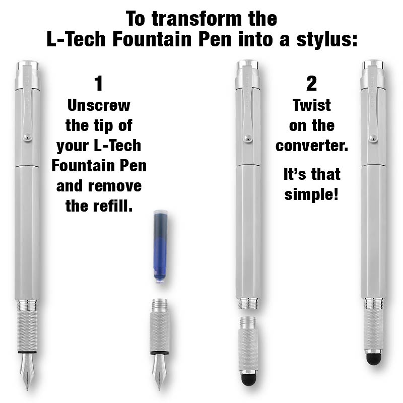 L-Tech Stylus Converter for Rollerball or Fountain Pen