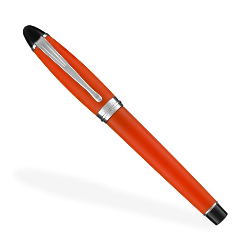 Aurora Ipsilon Satin Fountain Pen, F - Orange