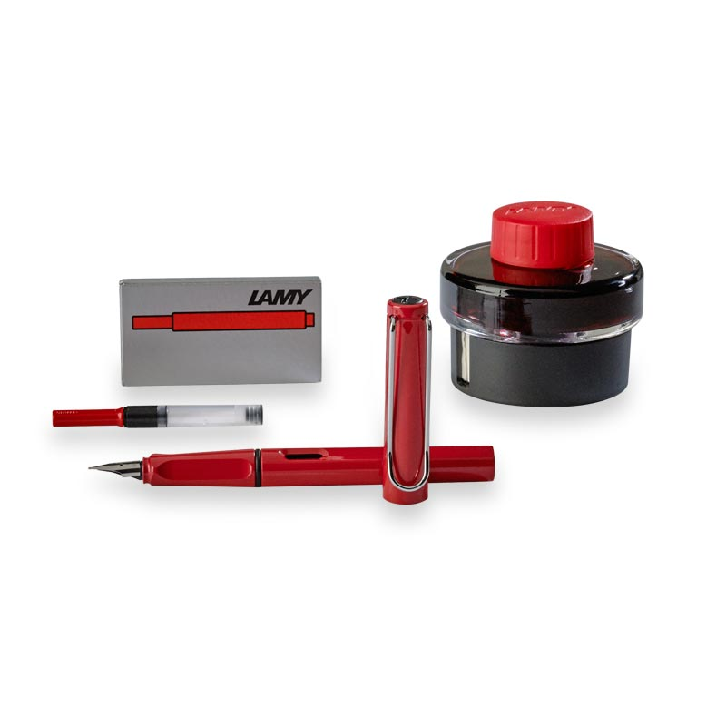 Lamy Safari Gift Set, Red