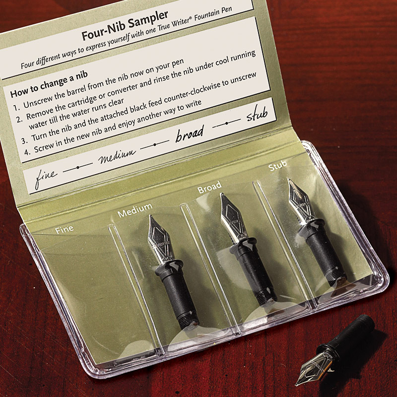 True Writer® Four-Nib Sampler