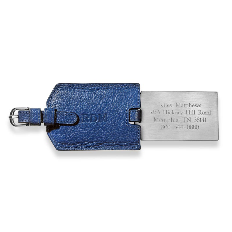 VIP Personalized Luggage Tag, Cobalt Blue