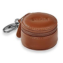 Zip-N-Store Earbud Holder - Cognac