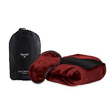 Luxury Travel Blanket - Burgundy