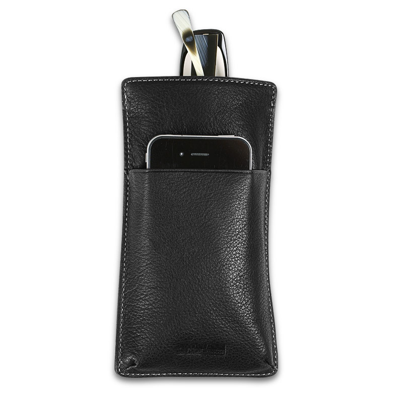 Blink & Ink™ Phone Holder/Eyeglass Case, Black