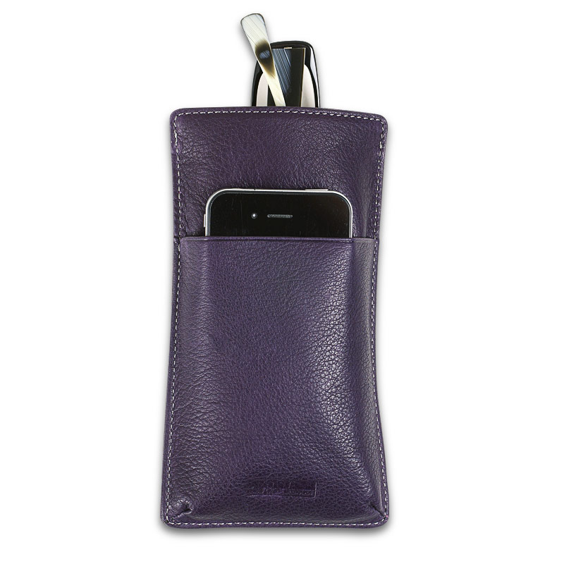 Blink & Ink™ Phone Holder/Eyeglass Case, Grape