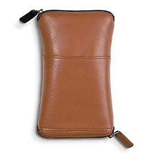Double Zip Eyeglass Case™, Brown