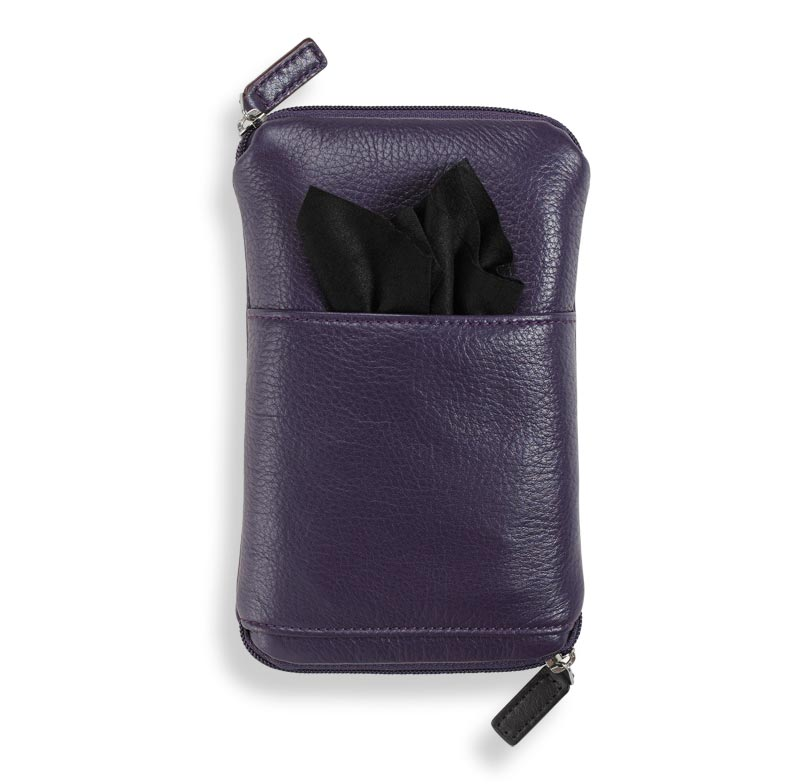 Double Zip Eyeglass Case™, Grape
