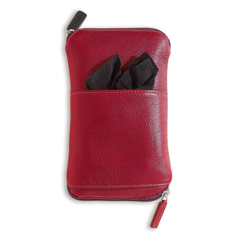 Double Zip Eyeglass Case™, Red