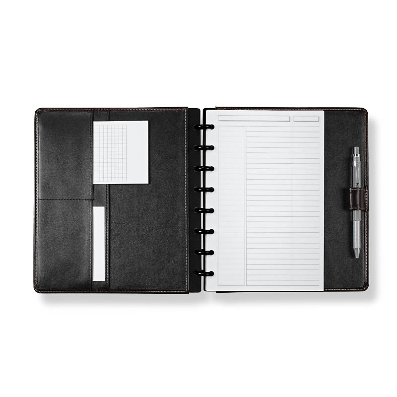 Circa LevTex™ Zip-Off Pocket Foldover Notebook, Junior
