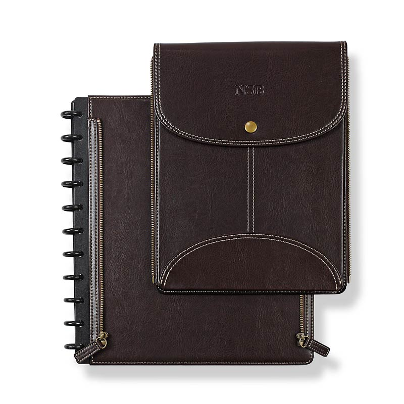 Circa LevTex™ Zip-Off Pocket Foldover Notebook, Letter