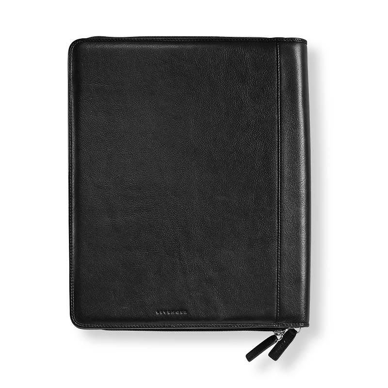 Executive Zip Folio, Letter-Black W/Monogram
