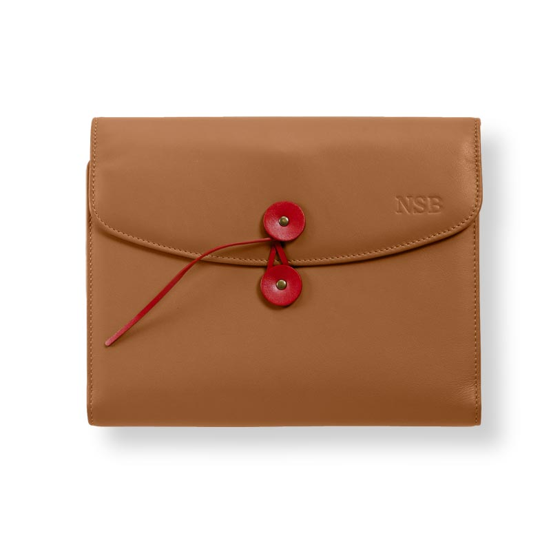 Circa Leather Cord Portfolio, Tan, Junior