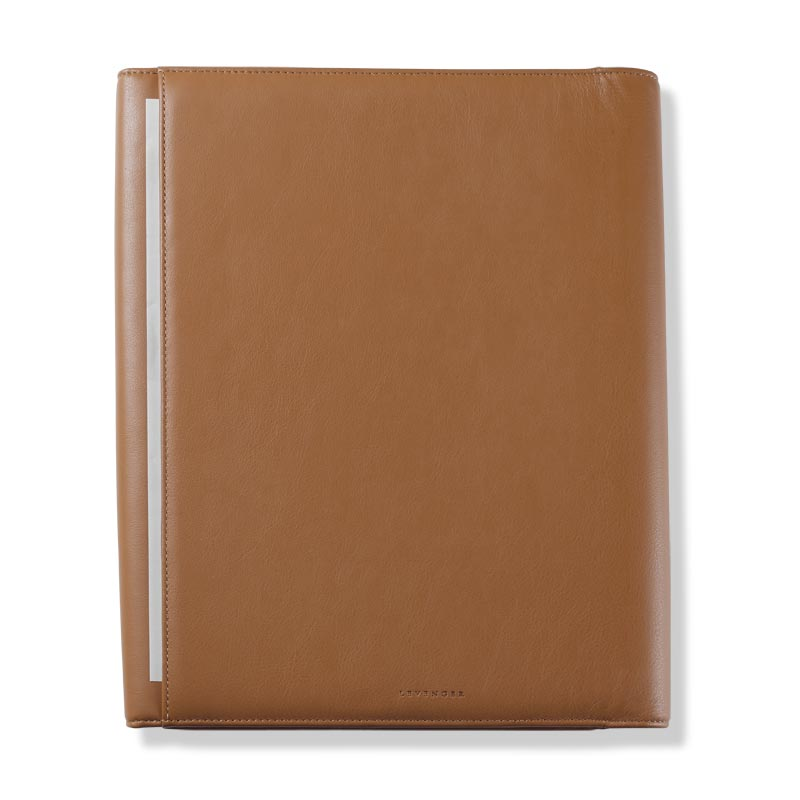 Circa Leather Cord Portfolio, Tan, Letter