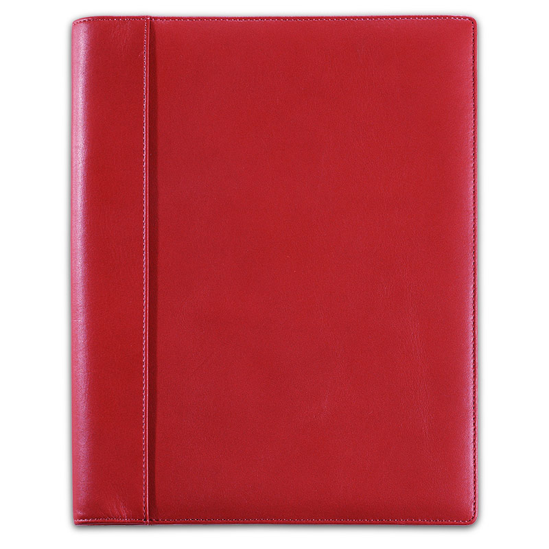 Notabilia Notebook with Leather Cover, Red