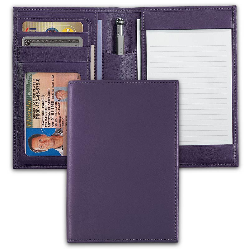 International Pocket Briefcase® with Pocketini Pen, Purple