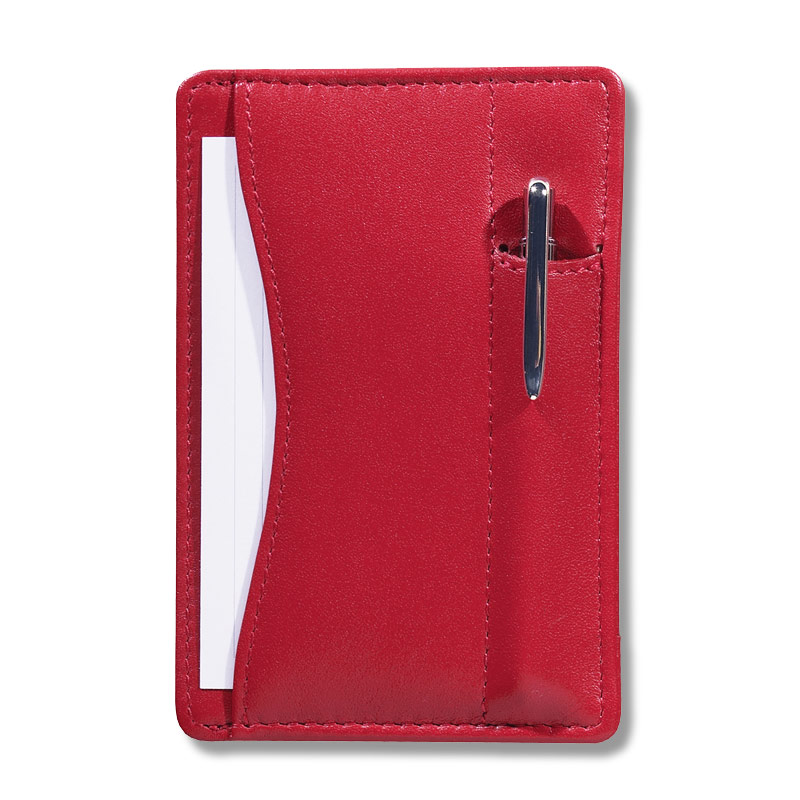 Slim Wallet Writer™ with Pen, Red