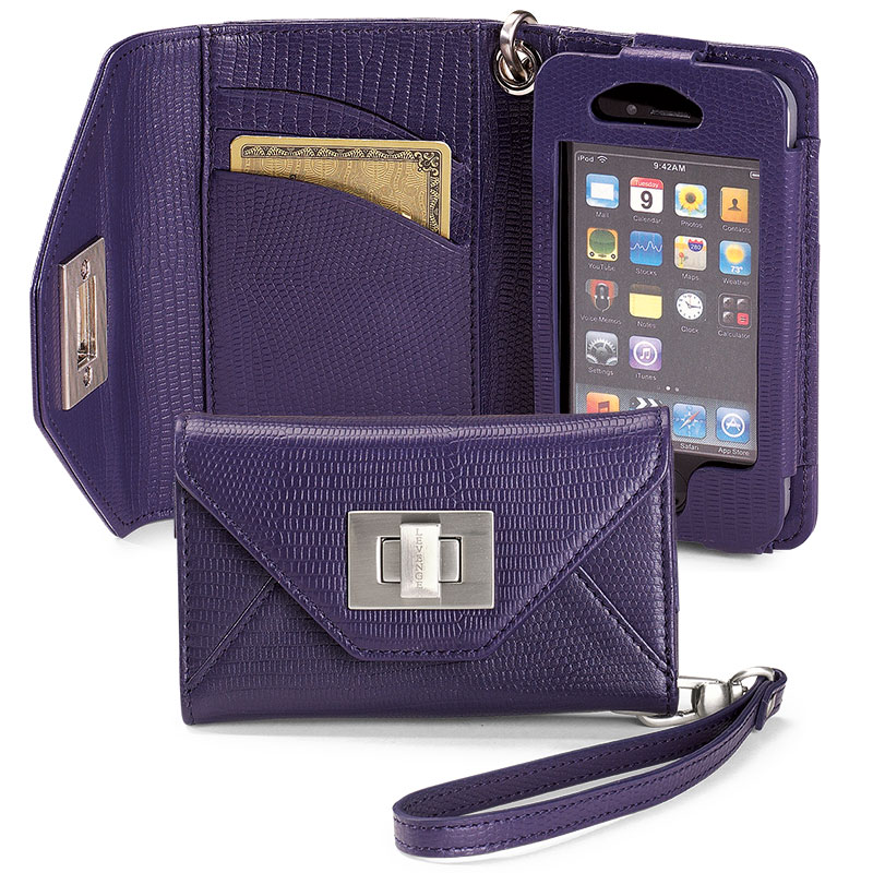 Carry My World™ iPhone Wallet, Grape