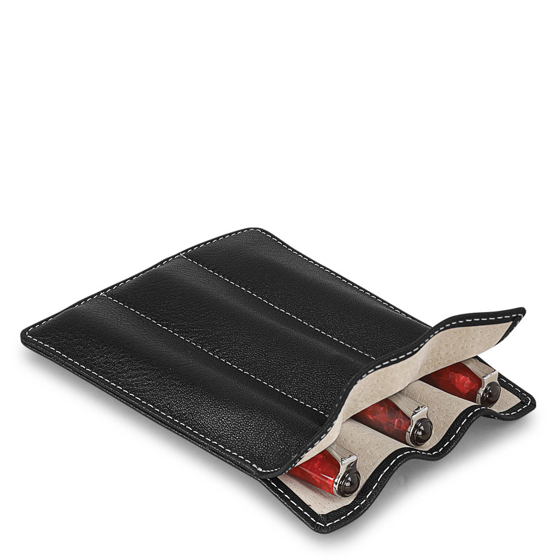 Carezza Triple Pen Sleeve, Black
