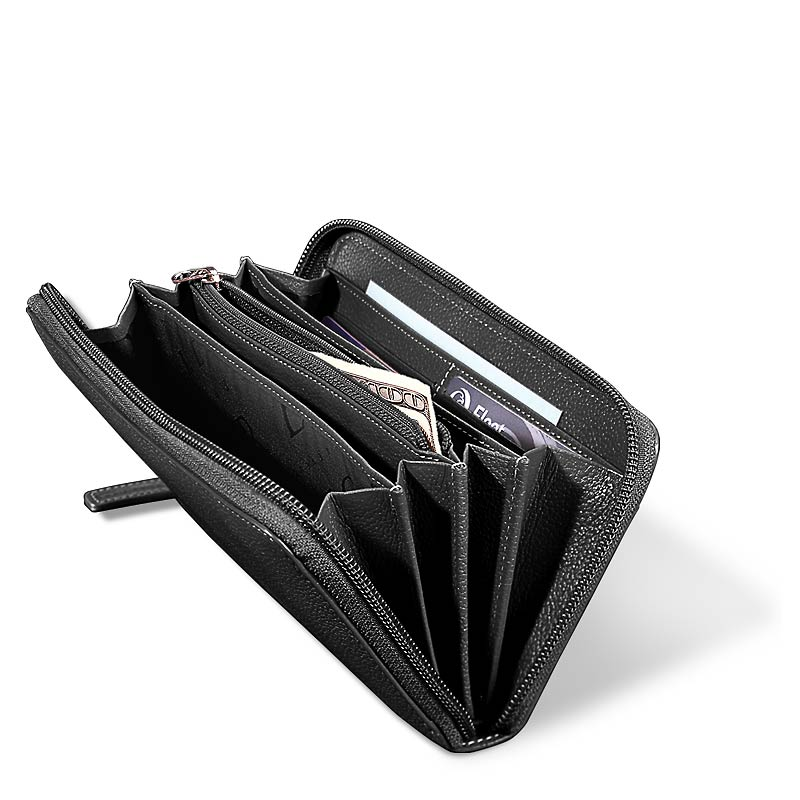 Accordion Wallet, Black