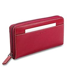 Accordion Wallet with Walletini Pen, Red