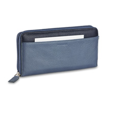 Raffinato Color Block Accordion Wallet Cornflower